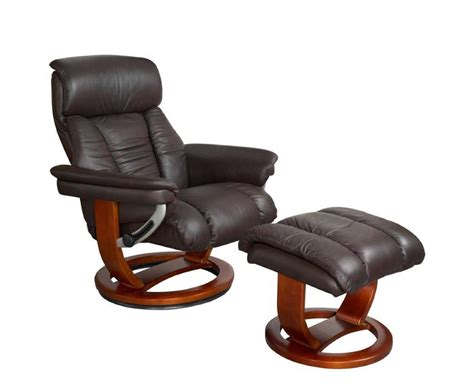 chocolate recliner chair veronica chocolate genuine leather swivel chair and foot stool