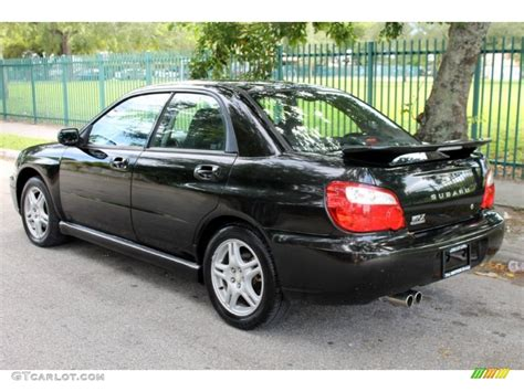 black subaru wrx java black pearl 2004 subaru impreza wrx sedan exterior