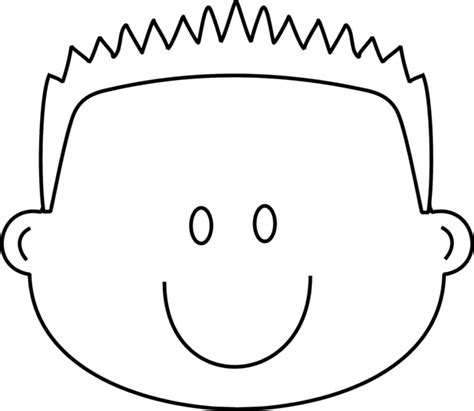 boy face coloring pages selfcoloringpages com