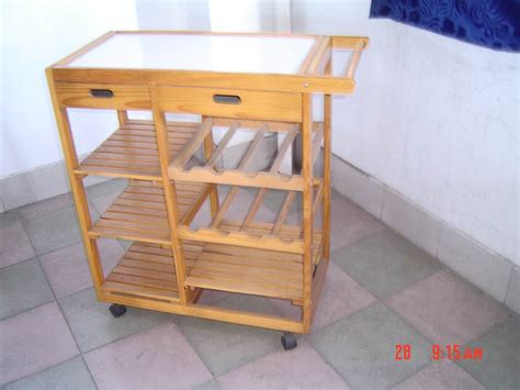Pine Kitchen Furniture Kitchen Trolley