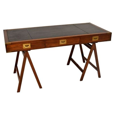 Vintage Style Desk L by Antique Caign Style Mahogany Leather Top Desk At 1stdibs