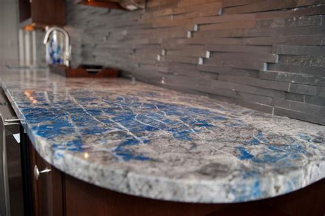 Kitchen Design Countertops by Lapis Lazuli Stone Countertop For A Wet Bar