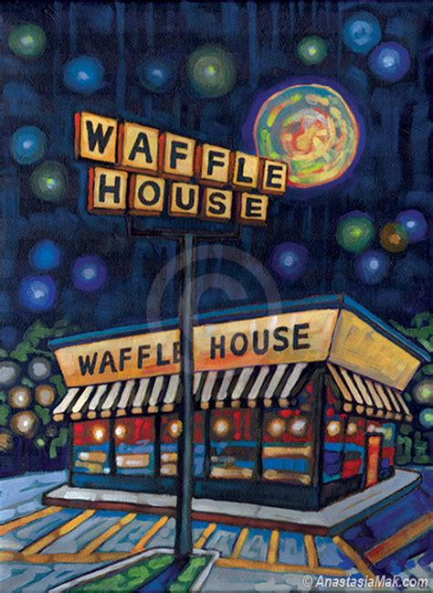 waffle house manhattan waffle house manhattan waffle house painting by mak