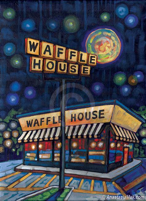 waffle house michigan waffle house painting by anastasia mak
