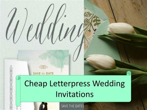 N 2 Cheap Wedding Invitations by Ppt Cheap Letterpress Wedding Invitations Powerpoint