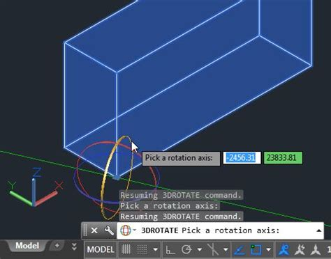 rotate layout view autocad 3d rotate command does not use the user coordinate system