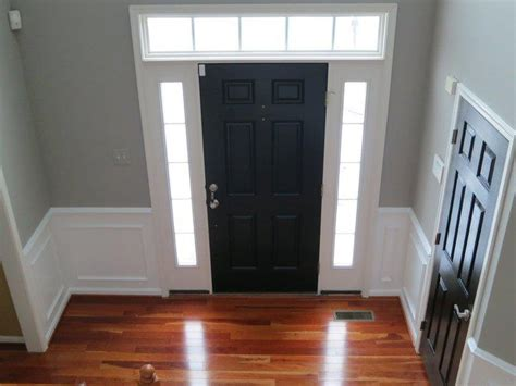 door tricorn black by sherwin williams walls wood smoke by glidden home white