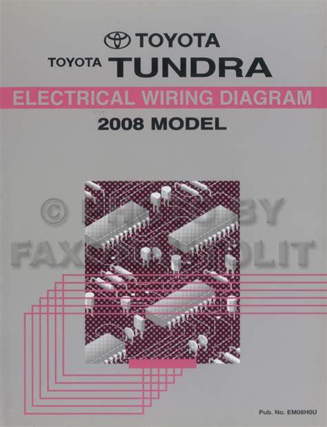2008 toyota tundra wiring diagram manual original