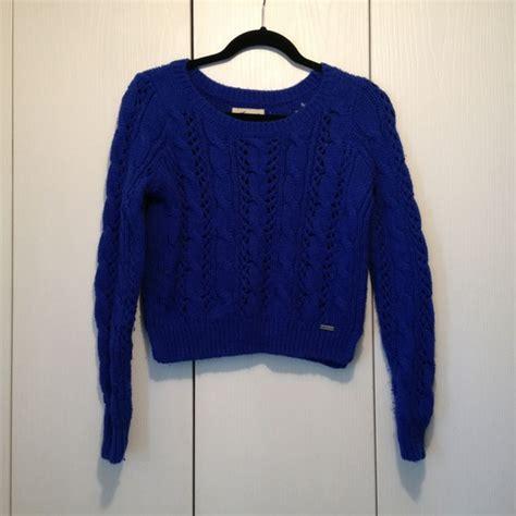 hollister knitted jumper 77 hollister sweaters hollister royal blue knit