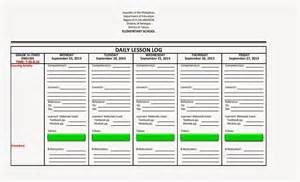 daily lesson log format english amp filipino language