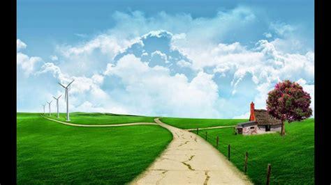 wallpaper pemandangan alam kartun youtube