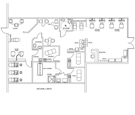 hair salon layout cad beauty salon floor plan design layout 2045 square foot
