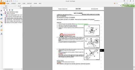 Nissan Sentra 2013 Factory Service Manual Auto Repair