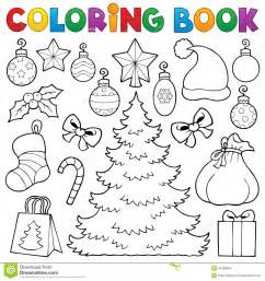 Christmas Train Decoration Coloring Book Christmas Decor 1 Stock Vector Image 34466604