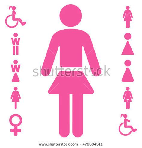 pink flat color lady icon vector style is flat iconic symbol pink color white background 476634511