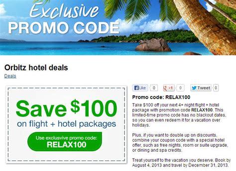 travel deals flights room upgrade orbitz 100 flight hotel package promo code