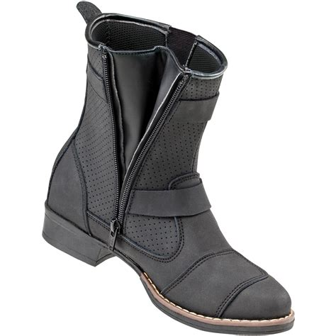 womens black moto boots joe rocket s moto adira boots mx alliance