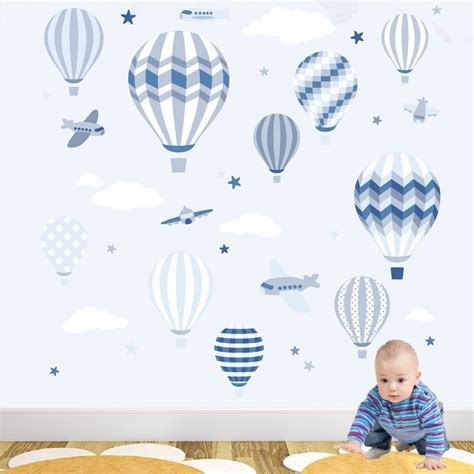 Wall Sticker Balon Uk 60x90cm stickers fille ballon ciabiz
