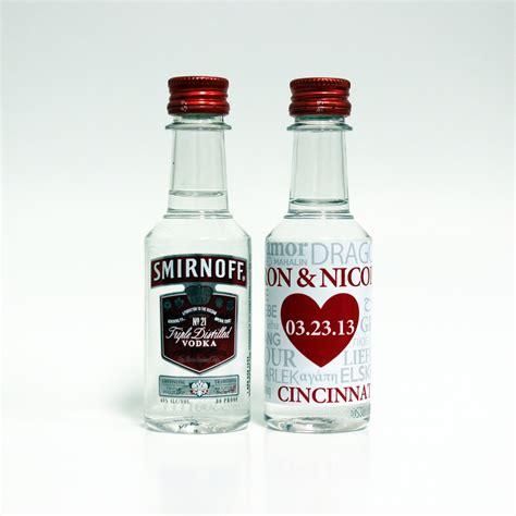 custom mini liquor bottle labels wedding by liquidcourage