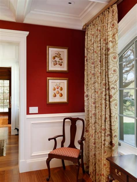 what colour curtains go with red walls photo page hgtv