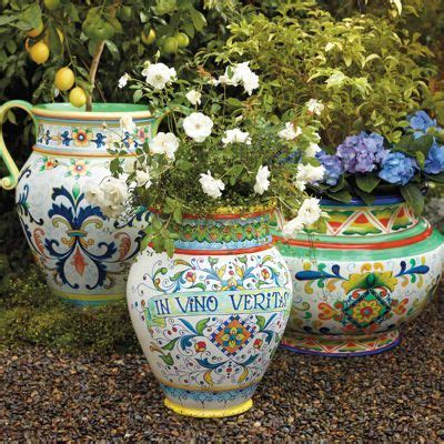 Painted Garden Planters by Italian Inspired Painted Planters For The Garden