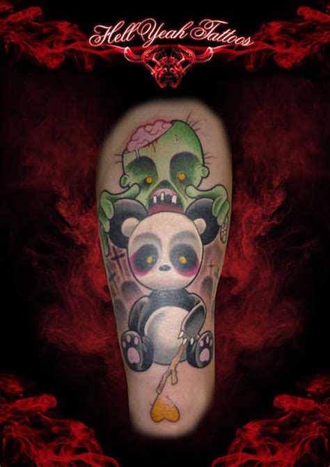 arm fantasy panda zombie tattoo by hellyeah tattoos
