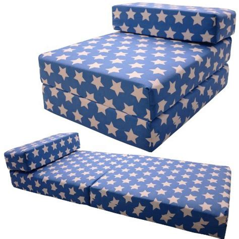 gilda 174 single chairbed blue cotton fold out chair