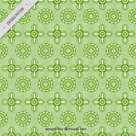 green pattern ai green pattern of geometric flowers vector free download