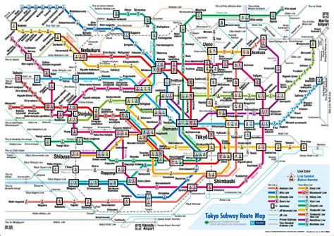 subway map how to travel on a budget in tokyo matador network
