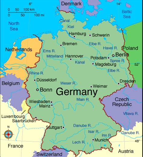 map of germany showing berlin berlin germany places to visit