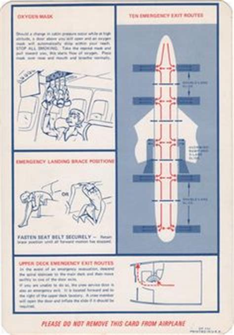 1000 Images About Airline Safety Cards On Pinterest
