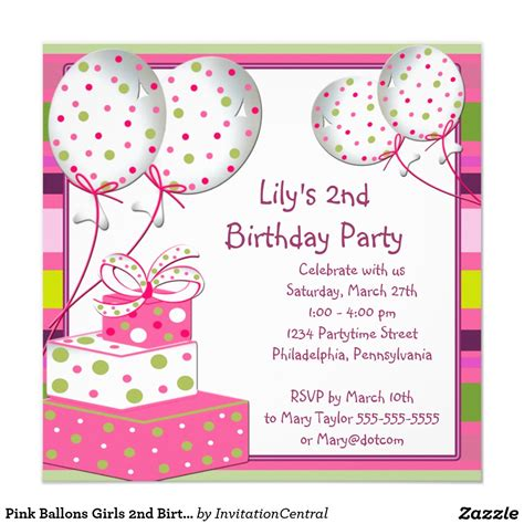 Invitation For Birthday Birthday Invitation Card Template