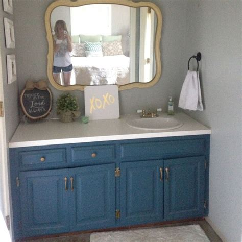 Blue Bathroom Vanity - 12 astonishing diy bathroom vanity makeovers the family