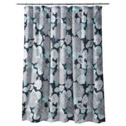 Gray Floral Curtains Teal And Black Shower Curtain 187 Ideas Home Design