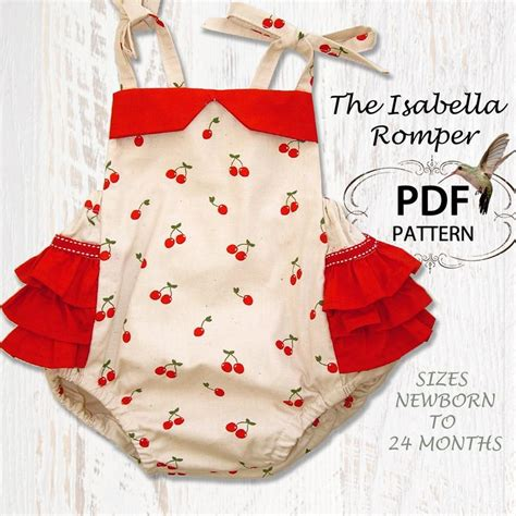 baby romper sewing pattern pdf sewing pattern for romper sunsuit baby sewing pattern