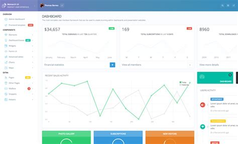 flat layout design exploring admin dashboard ui design trends