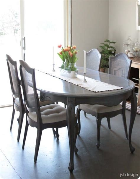 grey washed dining table makeover knockoffdecorcom