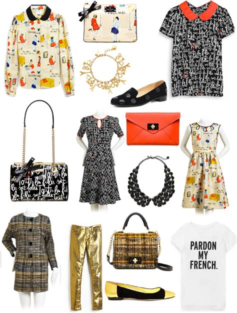 Kate Spade Froline weekend shopping inspired fashion from garance dore and kate spade new york
