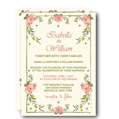 Wedding Invitations To Print by Cheap Print Floral Rustic Wedding Invitation Wip001