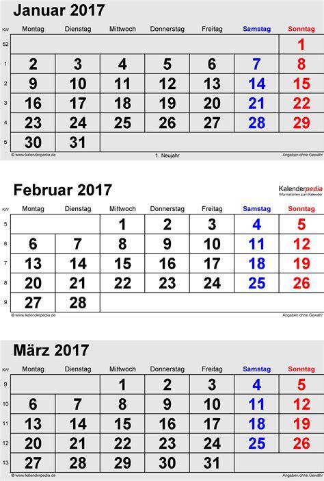Kalender 2017 Februar Kalender Februar 2017 Als Excel Vorlagen