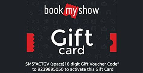 bookmyshow gift voucher bookmyshow instant voucher amazon in gift cards