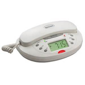 Compact Folding Desk Corded Phone Amp Clock Radio