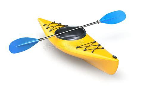 boat paddle definition yellow kayak stock illustration illustration of