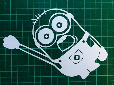 Auto Aufkleber Minion by Minion White Car Decal Sticker From Despicable Me