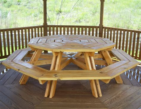 diy  seater octagonal picnic table plans  build easy