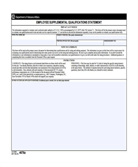 employee statement forms