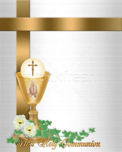 Cornice Kits Holy Communion Invitation Background Stock Photo