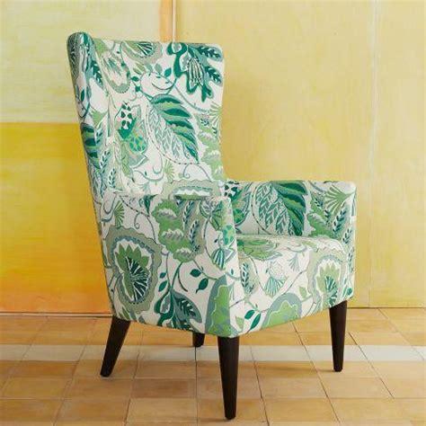 printed armchair victor armchair prints west elm