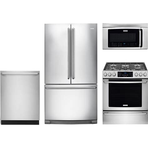 package deals on kitchen appliances electrolux 4 piece kitchen package with ei30gf45qs gas