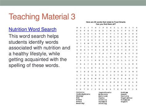 nutrition word search